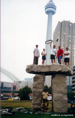The Gang up on the 'Stone', Harbourfront, Toronto, September 2000